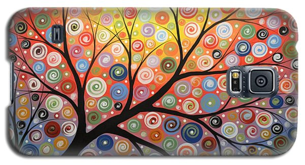 Galaxy S5 Case featuring the painting Reaching For The Light by Amy Giacomelli