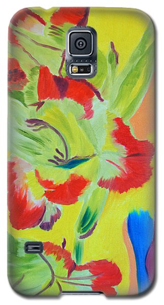 Galaxy S5 Case featuring the painting Reaching Up by Meryl Goudey