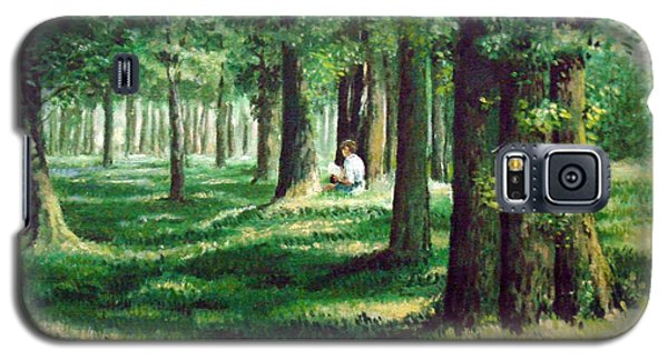 Reader In The Park Galaxy S5 Case
