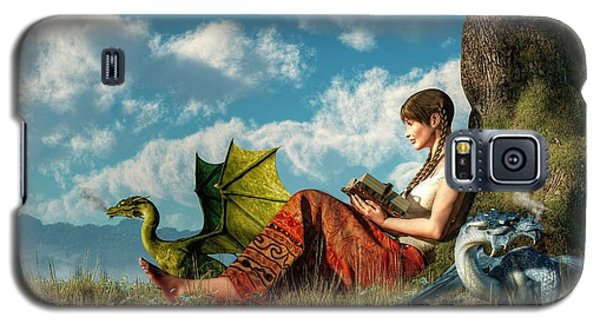 Dungeon Galaxy S5 Case - Reading About Dragons by Daniel Eskridge
