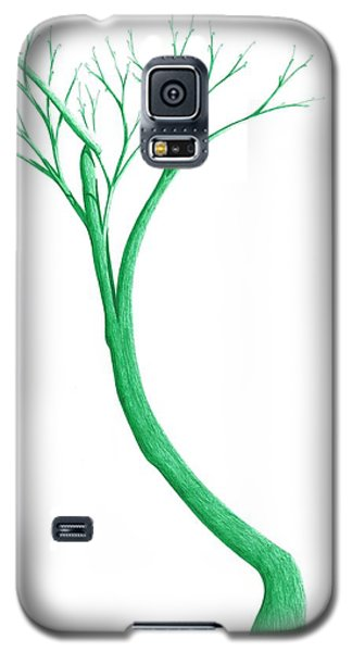 Galaxy S5 Case featuring the drawing Reading The Signs Of Nature by Giuseppe Epifani