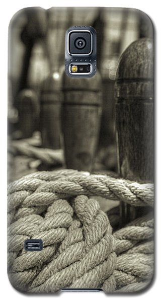 Ready For Work Black And White Sepia Galaxy S5 Case