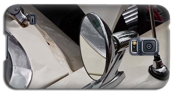 Galaxy S5 Case featuring the photograph Rear View Wing Mirror Chrome by Mick Flynn