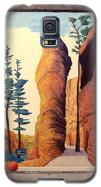 Galaxy S5 Case featuring the painting Reared Window by A  Robert Malcom