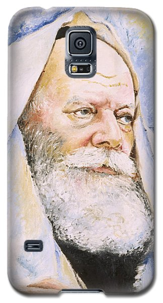 Galaxy S5 Case featuring the painting Rebbe In Tallis by Miriam Shaw