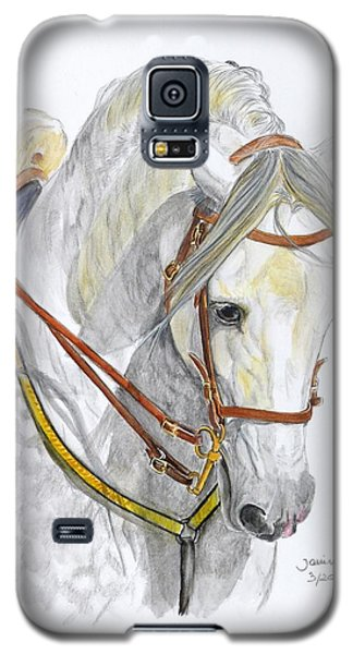Galaxy S5 Case featuring the painting Recluta by Janina  Suuronen