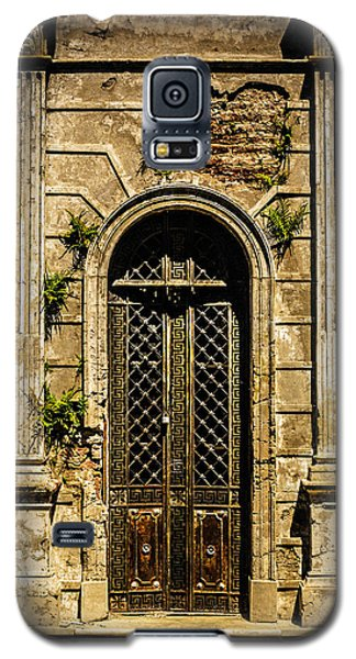 Galaxy S5 Case featuring the photograph Recoleta Crypt Door by Rob Tullis