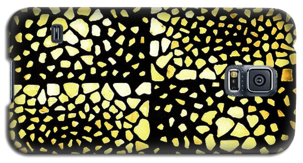 Galaxy S5 Case featuring the mixed media Rectangles by Kjirsten Collier