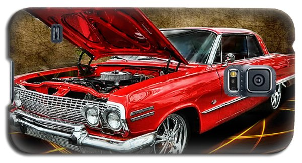 Red '63 Impala Galaxy S5 Case by Victor Montgomery