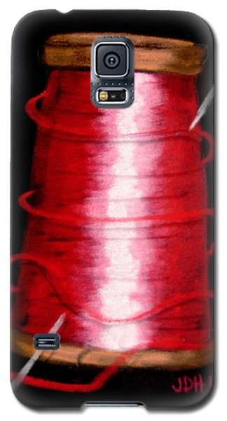 Galaxy S5 Case featuring the drawing Red 8 by Joseph Hawkins