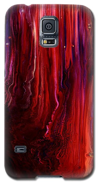 Red Abstract Art Galaxy S5 Case