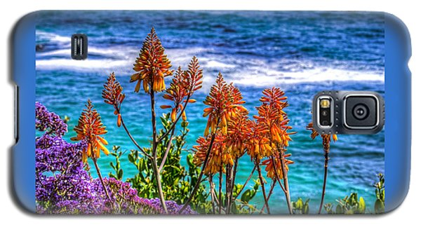 Galaxy S5 Case featuring the photograph Red Aloe By The Pacific by Jim Carrell