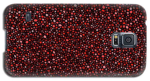 Red And Black Circles Galaxy S5 Case
