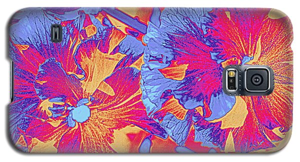 Red And Blue Pansies Pop Art Galaxy S5 Case