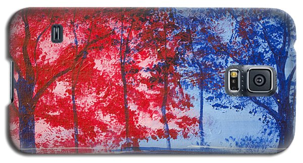 Red And Blue Galaxy S5 Case