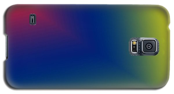 Galaxy S5 Case featuring the digital art Red And Blue Star Beam On Yellow by Karen Nicholson