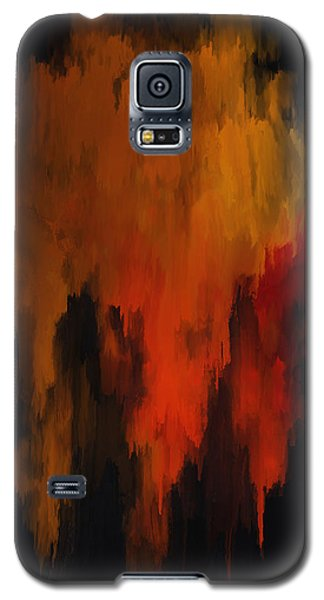 Red And Gold 1 Galaxy S5 Case by Michael Pickett