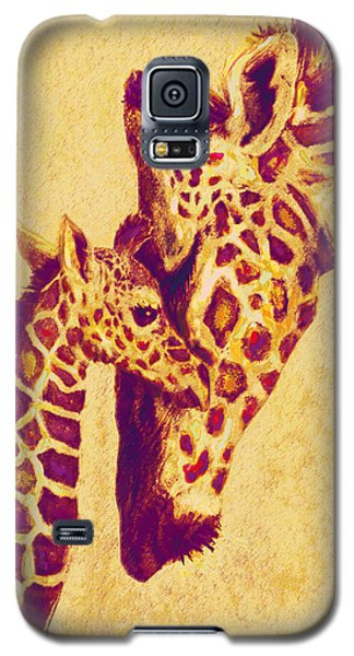 Red And Gold Giraffes Galaxy S5 Case