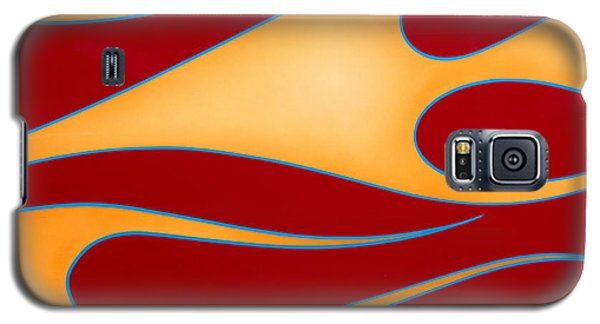 Galaxy S5 Case featuring the photograph Red And Gold by Joe Kozlowski