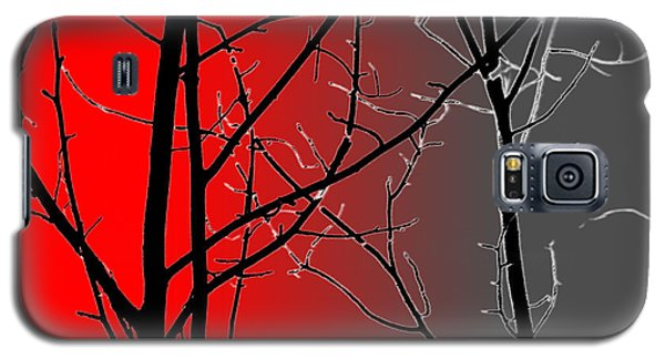 Red And Gray Galaxy S5 Case by Cynthia Guinn