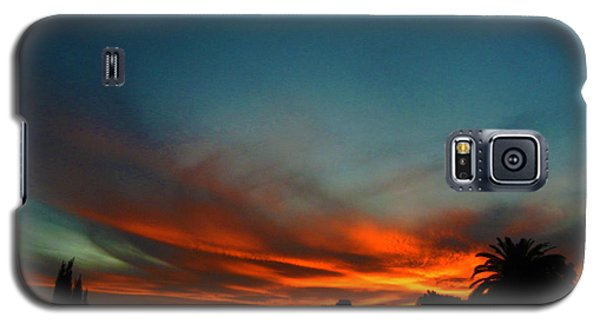 Red And Green Sunset Galaxy S5 Case
