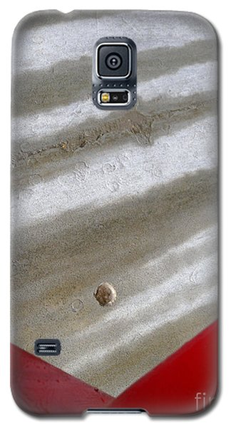 Galaxy S5 Case featuring the photograph Red And Grey Abstract by Robert Riordan