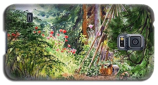 Galaxy S5 Case featuring the painting Poppies Season In The Garden  by Irina Sztukowski