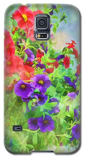 Red And Purple Calibrachoa - Digital Paint I Galaxy S5 Case