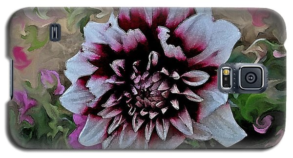 Red And White Dahlia  Galaxy S5 Case