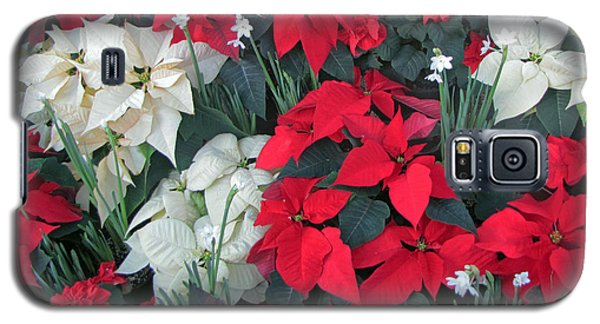 Red And White Poinsettias Galaxy S5 Case