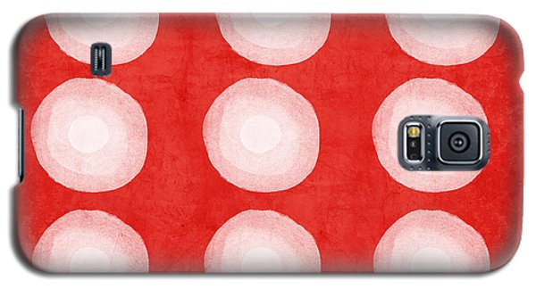 Red And White Shibori Circles Galaxy S5 Case