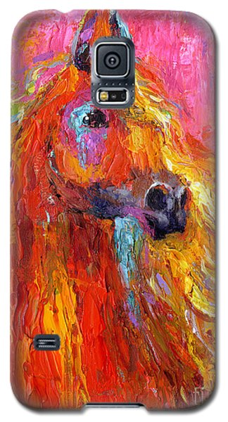 Red Arabian Horse Impressionistic Painting Galaxy S5 Case