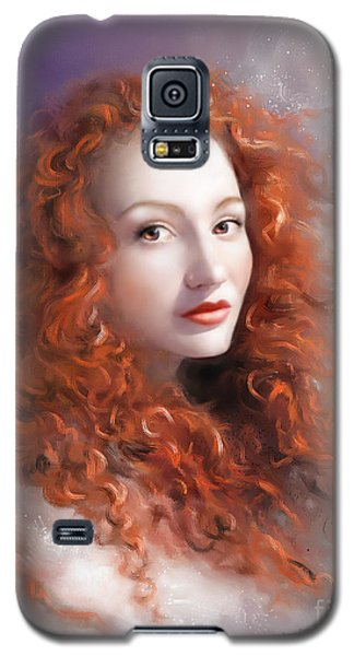 Galaxy S5 Case featuring the painting Red Autumn by S G