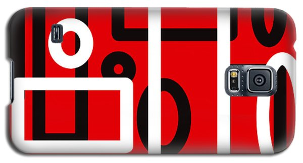 Red Back And White Design Galaxy S5 Case