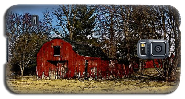 Red Barn Amongst Trees Galaxy S5 Case