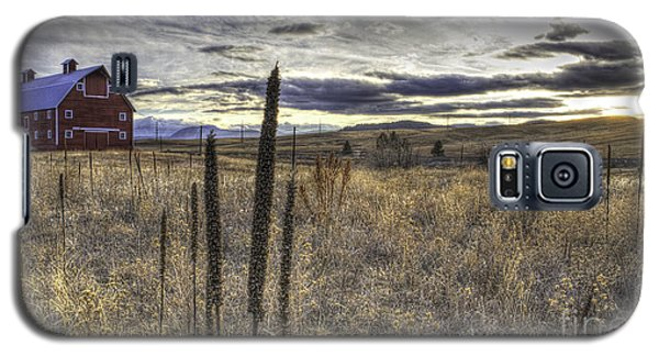 Galaxy S5 Case featuring the photograph Red Barn At Sunset by Kristal Kraft