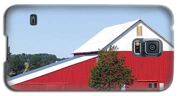 Galaxy S5 Case featuring the photograph Red Barn by Gena Weiser