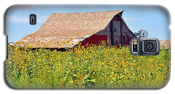 Red Barn In Summer Galaxy S5 Case by Clarice  Lakota