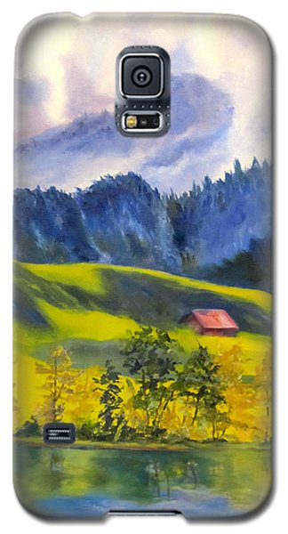 Red Barn Galaxy S5 Case by Lisa Boyd
