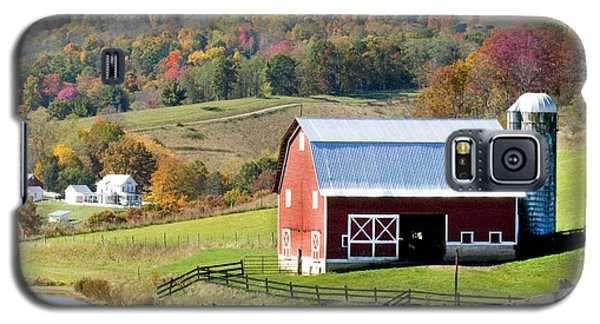 Galaxy S5 Case featuring the photograph Red Barn by Robert Camp