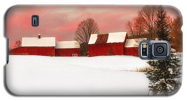 Red Barn Sunset Galaxy S5 Case