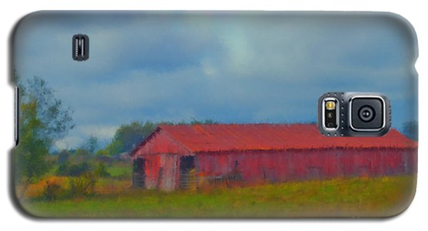 Red Barn Three Galaxy S5 Case by Ken Frischkorn