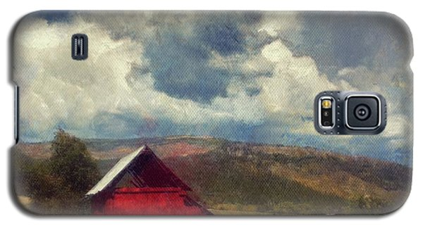 Red Barn Under Cloudy Blue Sky In Colorado Galaxy S5 Case