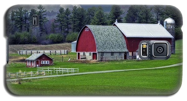 Red Barns Galaxy S5 Case by Judy  Johnson