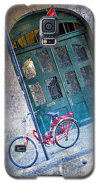 Galaxy S5 Case featuring the digital art Red Bike by Erika Weber