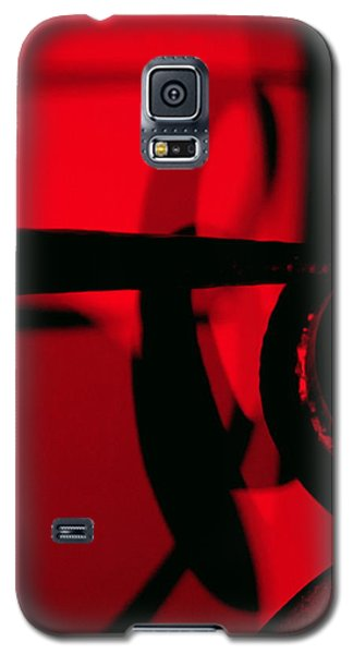 Red Black Galaxy S5 Case by Randall Weidner