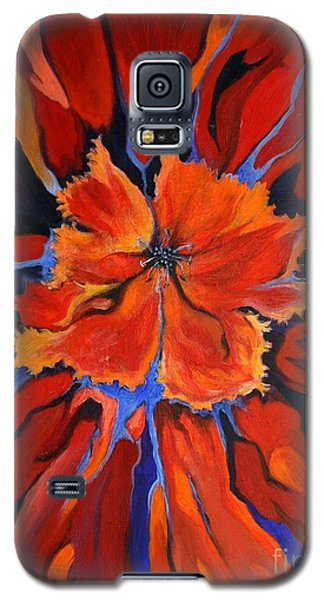 Galaxy S5 Case featuring the painting Red Bloom by Alison Caltrider