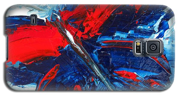 Red Blue Butterfly Galaxy S5 Case