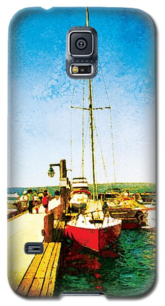 Red Boat Galaxy S5 Case by Kenneth De Tore