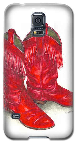 Red Boots Galaxy S5 Case by Nan Wright
